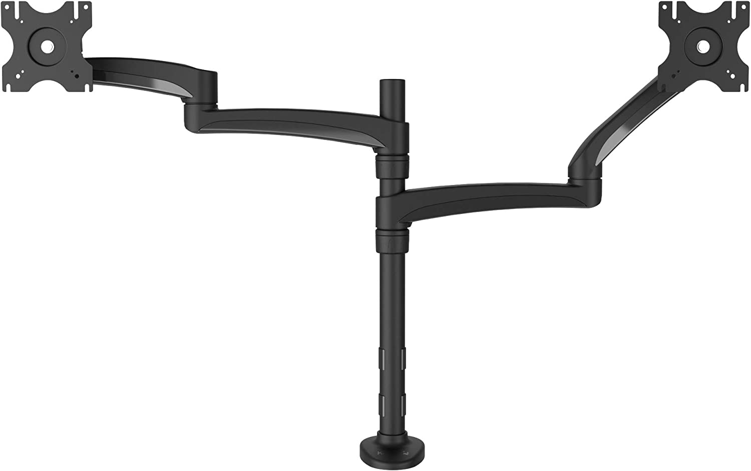 "Kanto DM2032 Dual Monitor Desktop Arm Mount for 20"" to 32"" Monitors, Clamp & Grommet Compatible, Fully Adjustable with Cable Management"