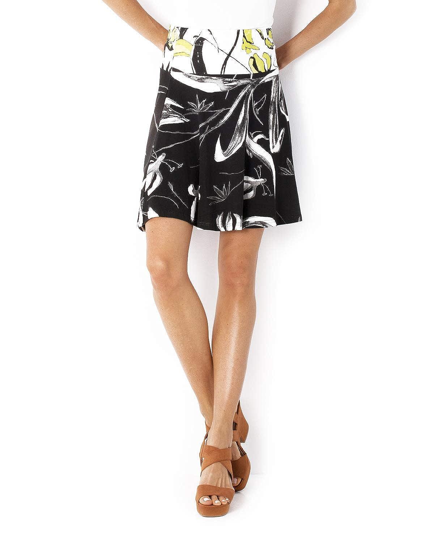 Smash! Falda Estampada Fantasia Bicolor Mini Falda de Verano para ...