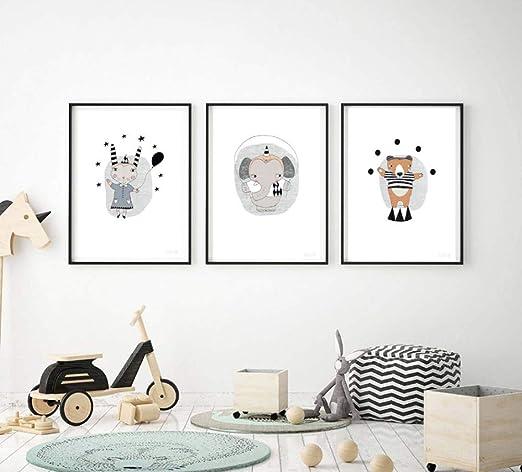 SCLPOSTER Cartel Arte Moda Animal Cartel bebé habitación ...