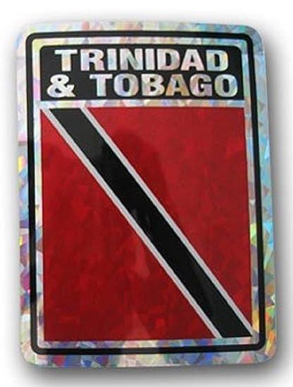 Trinidad /& Tobago Country Flag Reflective Decal Bumper Sticker