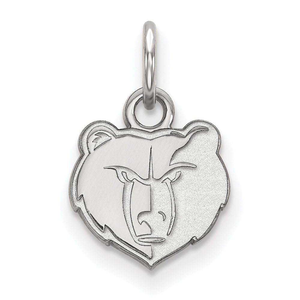 Roy Rose Jewelry 14K White Gold NBA LogoArt Memphis Grizzlies X-small Pendant / Charm