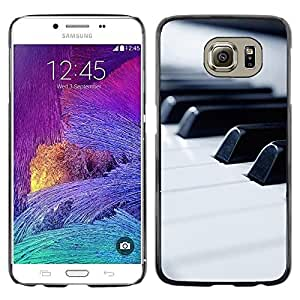 Impact Case Cover with Art Pattern Designs FOR Samsung Galaxy S6 Music Macro Piano Keys Betty shop