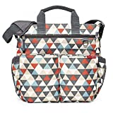 Skip Hop Messenger Diaper Bag With Matching Changing Pad, Duo Signature, Triangles