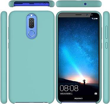 Funda para Huawei Mate 10 Lite, Líquido de Silicona Carcasa Huawei Mate 10 Lite, Anti-Huella Digital con Suave Almohadilla de Forro de Tela de Microfibra, Funda Liquida Silicona Verde: Amazon.es: Electrónica