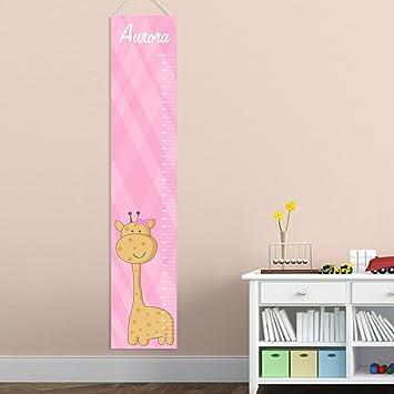 Amazon Personalized Baby Girl Giraffe Growth Chart