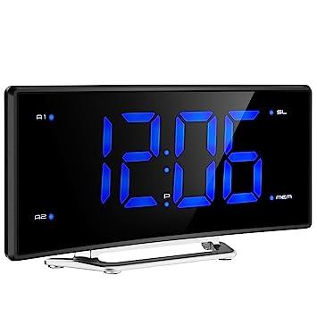 Radio Despertador Digital con Proyector de Mpow, Reloj de Alarma de Proyección de FM con Alarmas Dobles,Reloj de Techo Digital con Puerto de Carga ...