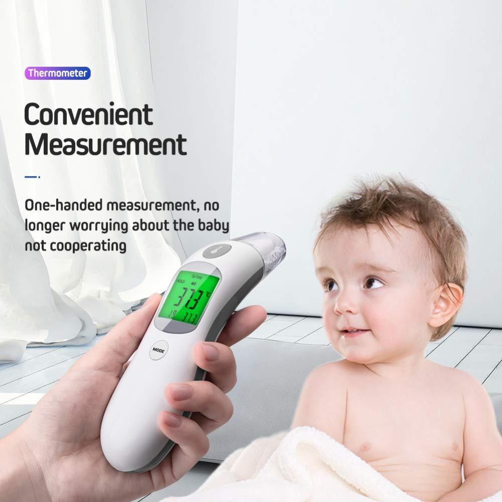 Term/ómetro digital infrarrojo el/éctrico para la frente del beb/é azul Burysez