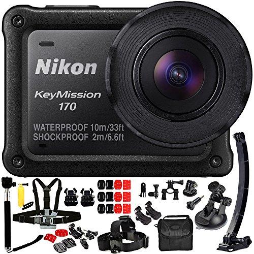 Nikon KeyMission 170 4K Action Camera 14PC Accessory Kit Action Cameras Nikon