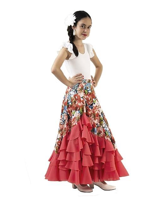 1c2e1d0890 Conjunto de niña de Dos Piezas para Danza Flamenco o sevillanas. Maillot y  Falda.