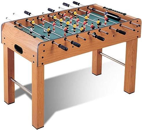 Qazxsw Futbolín Máquina, Partido Ocio Juego de Mesa para Adultos, para niños Futbolín Juguetes educativos, Mejorar Las emociones, Mejorar la coordinación Mano-Ojo,Wood Color,121 * 61 * 79cm: Amazon.es: Hogar