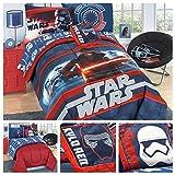 Star Wars Episode 7 Reversible Bedding Comforter Set and Kylo Ren Pillow - Twin