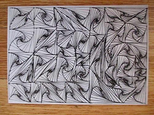 Black & White Swirl Doodle - Tiny Art Print/Postcards 4.25