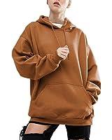 Felpe Con Cappuccio Donna Collo Alto Sweatshirt Maniche Lunghe Felpa Tumblr Ragazza Invernali Casual Hoodies Maglietta Giacca Cappotti Tops Tinta Unita – BienBien