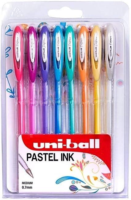 Uni-Ball Signo Gel Bolígrafos - Angelical Colores Pastel - Pack de 8 - UM-120AC: Amazon.es: Oficina y papelería