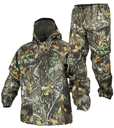 - COMPASS 360 SportTek Waterproof Breathable Camo Suit (Medium, Realtree Edge)