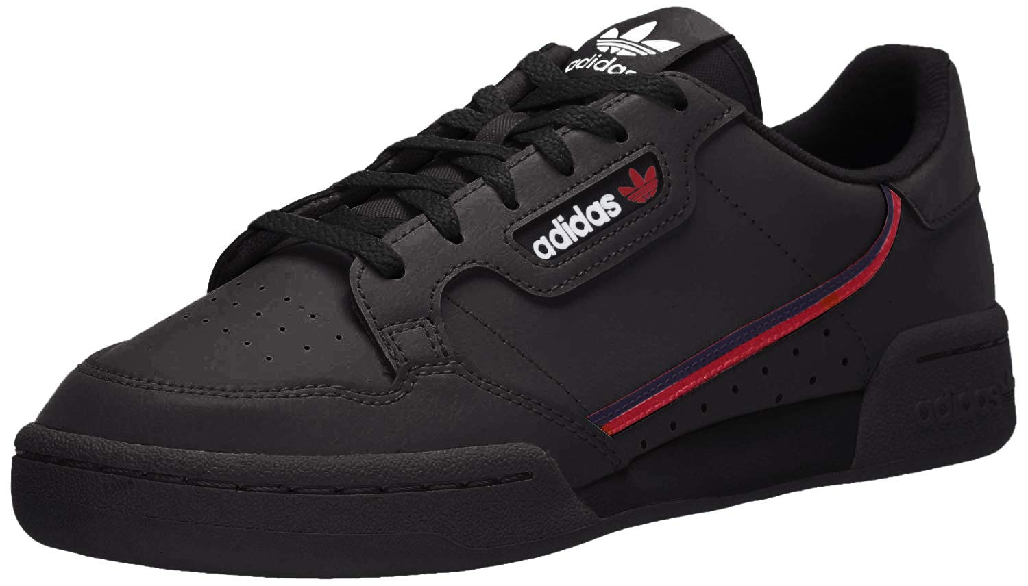 adidas Originals Men's Continental 80 Hiking Shoe, core Black/scarlet/collegiate Navy, 12.5 M US