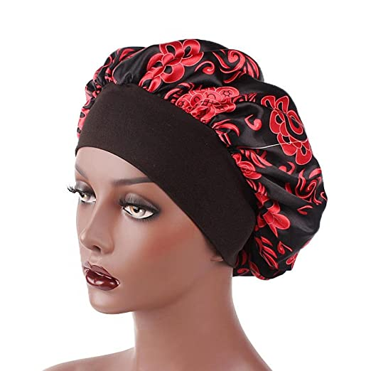 JPOQW Womens Turban Chemo Hat Printed Wide-Brimmed Hair Band Sleep Cap Hair Loss Cap