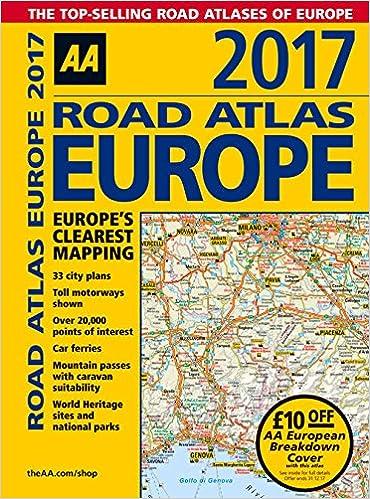 Book AA Road Atlas Europe 2017 (AA Road Atlas)