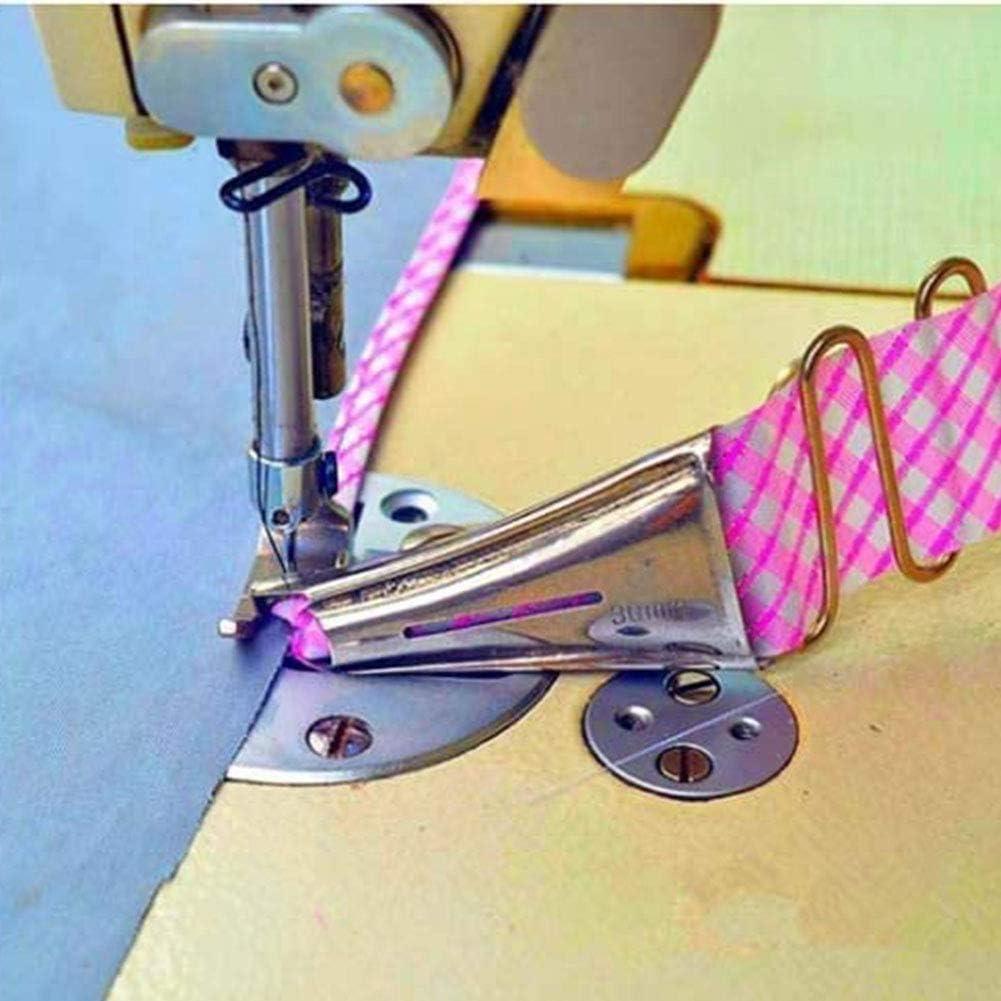 Curva Edge Bies Binder, tamaño de la cinta overlock, doble plegado ajustable en ángulo recto para máquina de coser industrial carpeta de adjunto 32 mm
