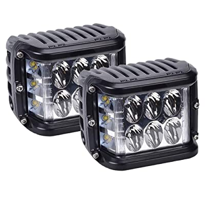 Side Shooter LED Pods, HILLSKING 45W 5880LM LED Light Bar, Off Road Driving Lights Fog Bumper Roof Light for Boat, Jeep, SUV, Truck, Hunters, Motorcycle, 2 years Warranty: Automotive