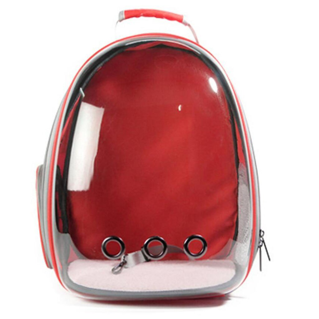 Red L-XFLX Pet Pack Outdoor Portable Cat Pack Dog Pack Pet Carrier (color   Red)