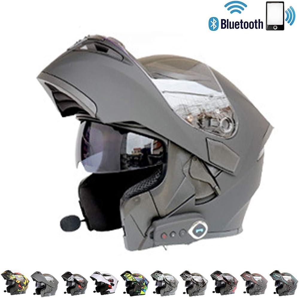 C-TK Bluetooth Integrado Modular Casco de la Motocicleta ECE 22.05 certificación Dot Seguridad estándar-Cara Completa Racing Casco de la Motocicleta General