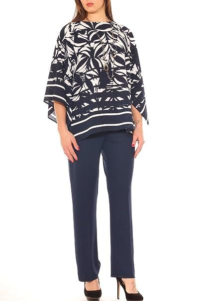 aa5fb0f92282 Perla Oversize Completo donna caftano fantasia e pantalone palazzo taglia  conformata  Amazon.it  Abbigliamento