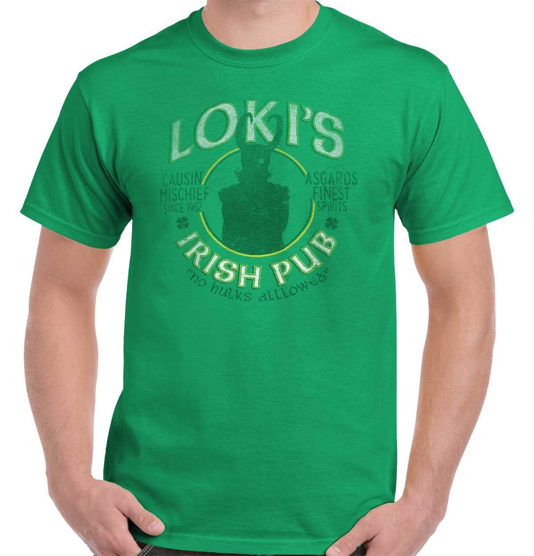 Loki Irish Pub Thor Comics Superhero Drinking Beer Ragnarock T-Shirt