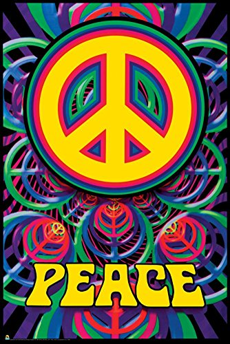 Peace Sign Poster Love Hippy Psychedelic Art 3073 Print
