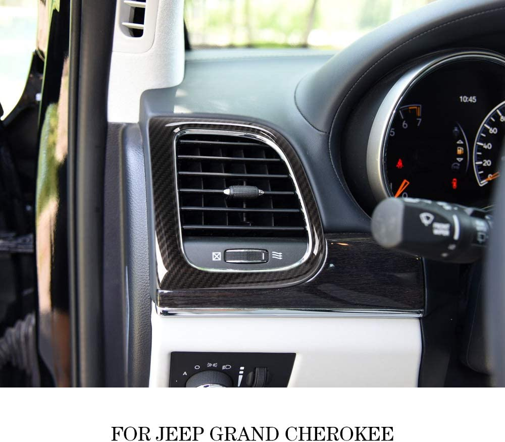 JeCar Center Console Air Condition Vent Trim Interior Accessories for 2011-2019 Jeep Grand Cherokee Carbon Fiber Texture