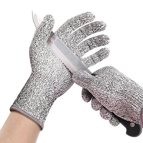 "Veego Fillet Gloves, 9.2"" x 6.6"" Cut Resistant Non-Slip Fishing Glove for Men, Women - Highest Safety Rating Gloves (1 Pair)"