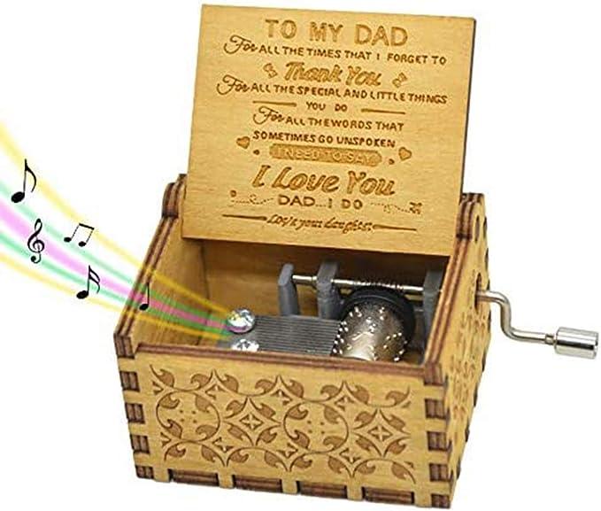 Caja de música con texto en inglés «You are my sunshine» caja de música clásica con manivela de mano regalo para hija esposa mamá papá día del p