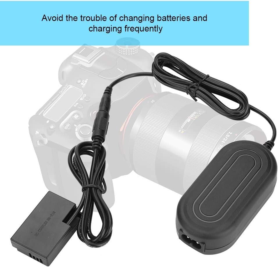 Cable de alimentaci/ón para c/ámara Canon EOS 750D 760D Topiky Bater/ía Falsa del acoplador DC DR-E18 Adaptador de Corriente AC-E6 Negro