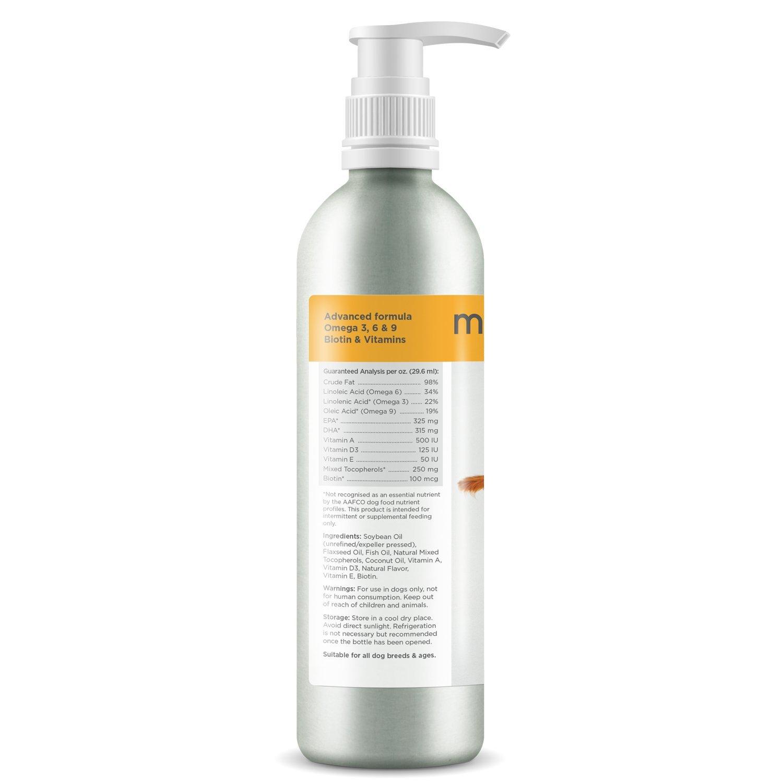 maxxidog - maxxiomega - Aceite de omega avanzado para perros para una piel sana y un pelo brillante – Surtidor fácil de usar – No deja olor a pescado ...