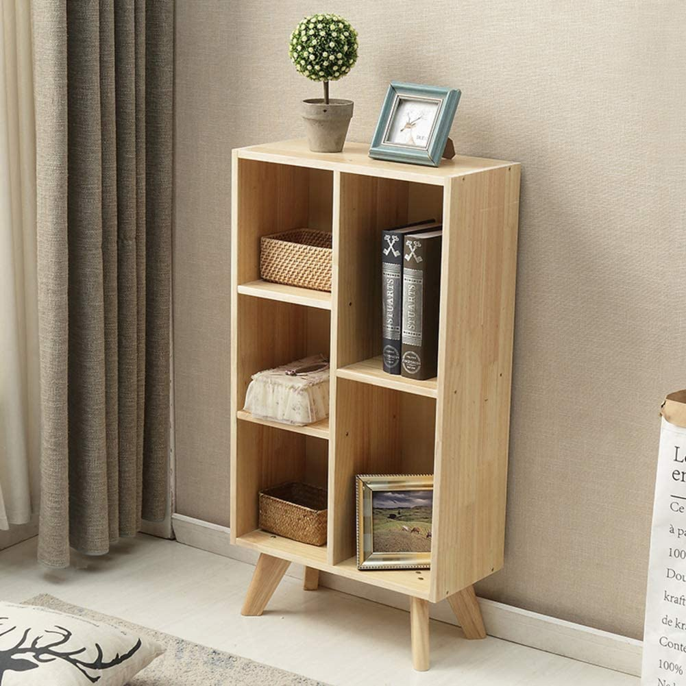HM&DX Wood Bookshelf Storage cabinets,Book Decorations Display Shelf Bookcase Furniture for Home Office-C