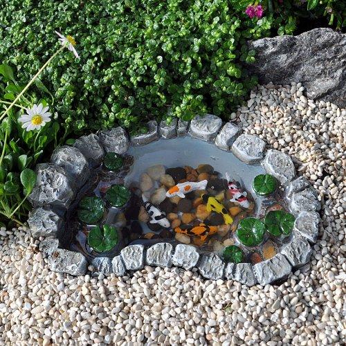 Miniature Fairy Garden Mini Koi Lily Pad Pond (Koi Garden Ponds)
