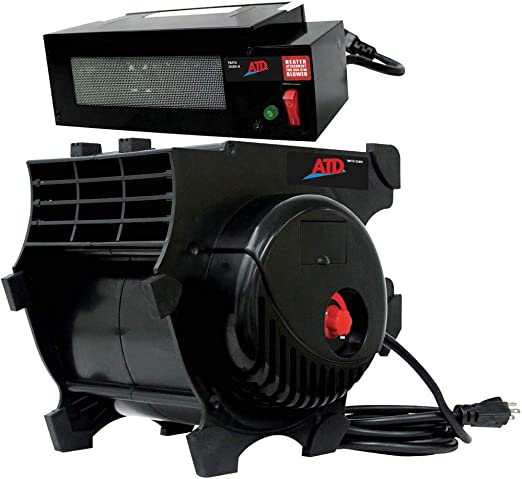 ATD Tools 40300HTR 300 CFM Pro Air Blower with Heater Attachment