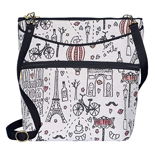 - Danny K Women's Tapestry Bag Crossbody Handbag, Maggie Purse Handmade in the USA (L'Amour)