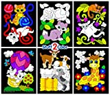: Stuff2Color Baby Animals - Pack of 6 Fuzzy Velvet Coloring Posters