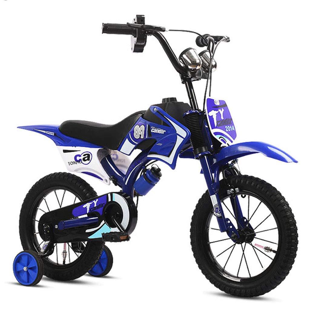 自転車子供自転車2-8歳子供自転車12/14 / 16/18インチ男性ベビーカー - 3つのスタイル 18in Blue B B07PLCBKT9