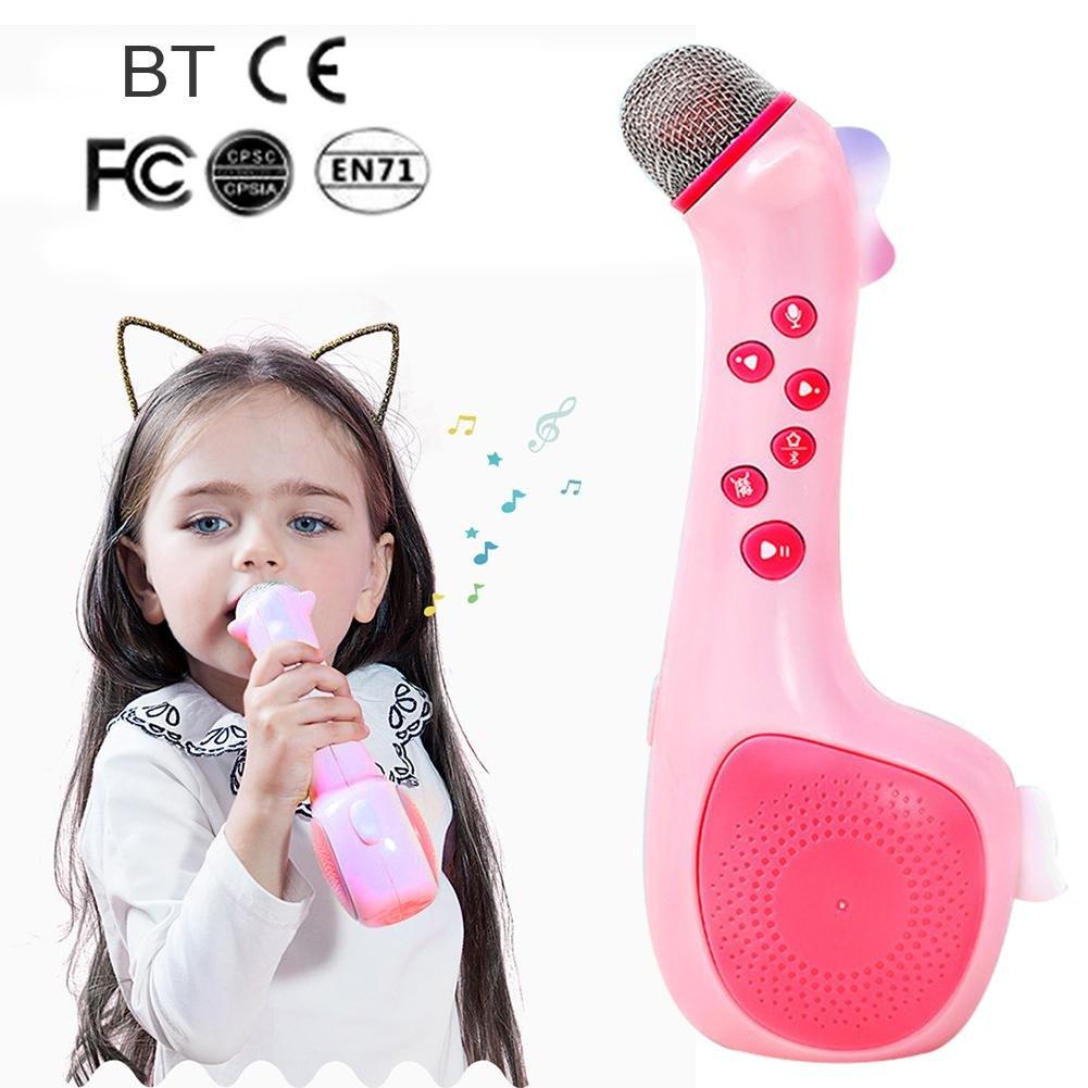 Karaoke Maschine Kinder, kabelloses Mikrofon Singing Machine mit Stimme farbwechsel und Aufnahme, beste Geschenk für Jungen und Mädchen Geburtstag WINNER