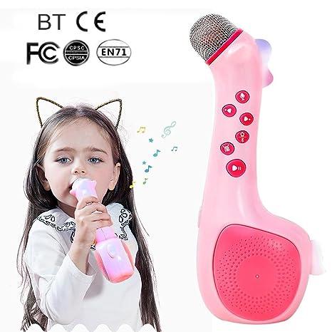 Karaoke Máquina de cantar para niños, micrófono inalámbrico con cambio de voz y grabación,