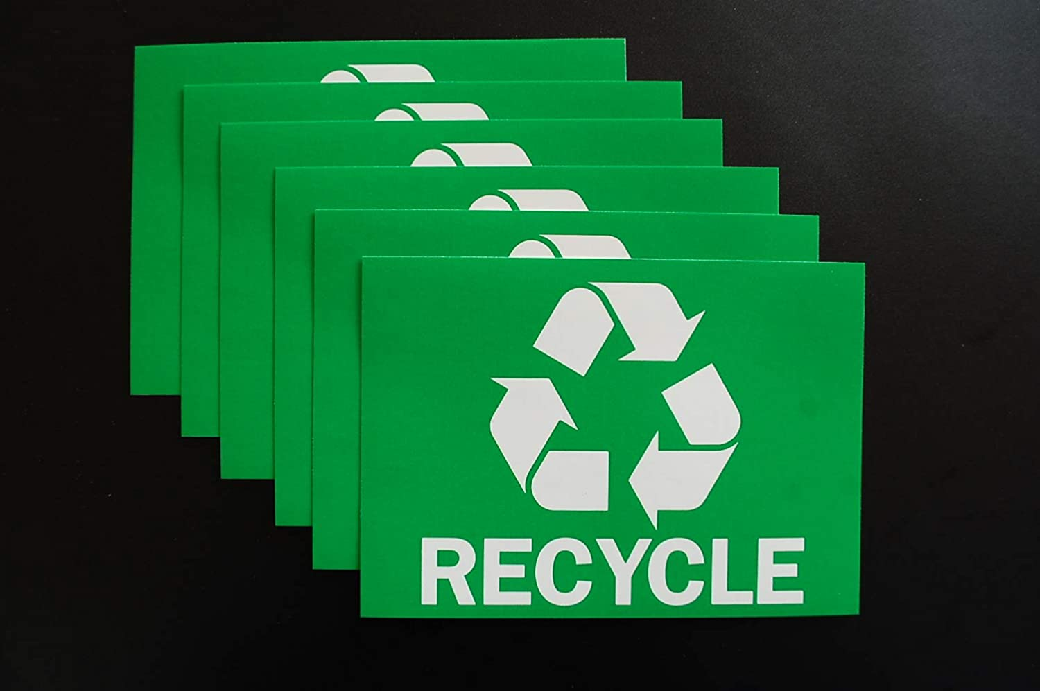 Recycle Stickers Trash Bin Sticker Label Waterproof Garbage Waste from Recycling Indoor /& Outdoor Great for Metal Aluminum Steel or Plastic Trash Cans 5 X 3.5 6 Pack X6PS8