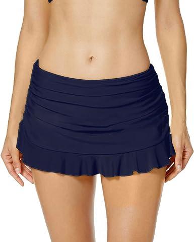 Inlefen Bikini Beach Dress Falda Bikini Mujer Falda natación Mini ...