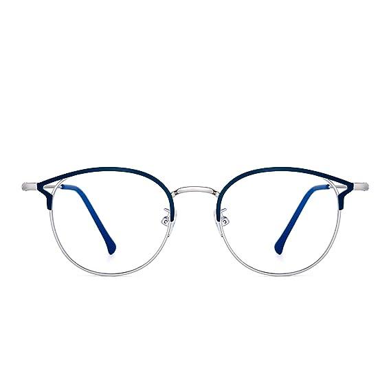 ade1547b63dee JIM HALO Lunettes Ordinateur Bloquant Lumière Bleue Designer Lunettes de  Vue Oeil de Chat Rondes Métal