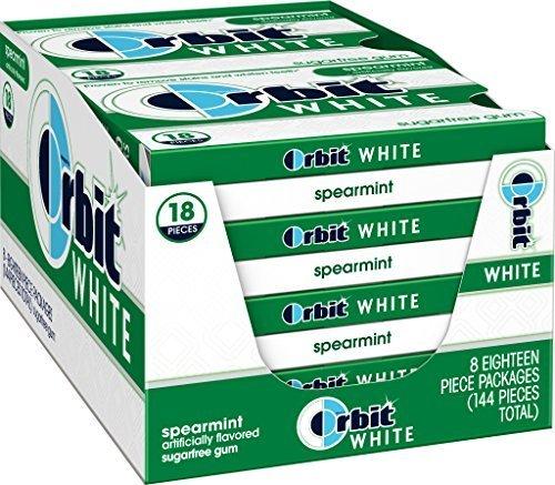 Orbit White Spearmint Sugarfree Gum, (Pack of 8) by Orbit (Orbit White Spearmint)