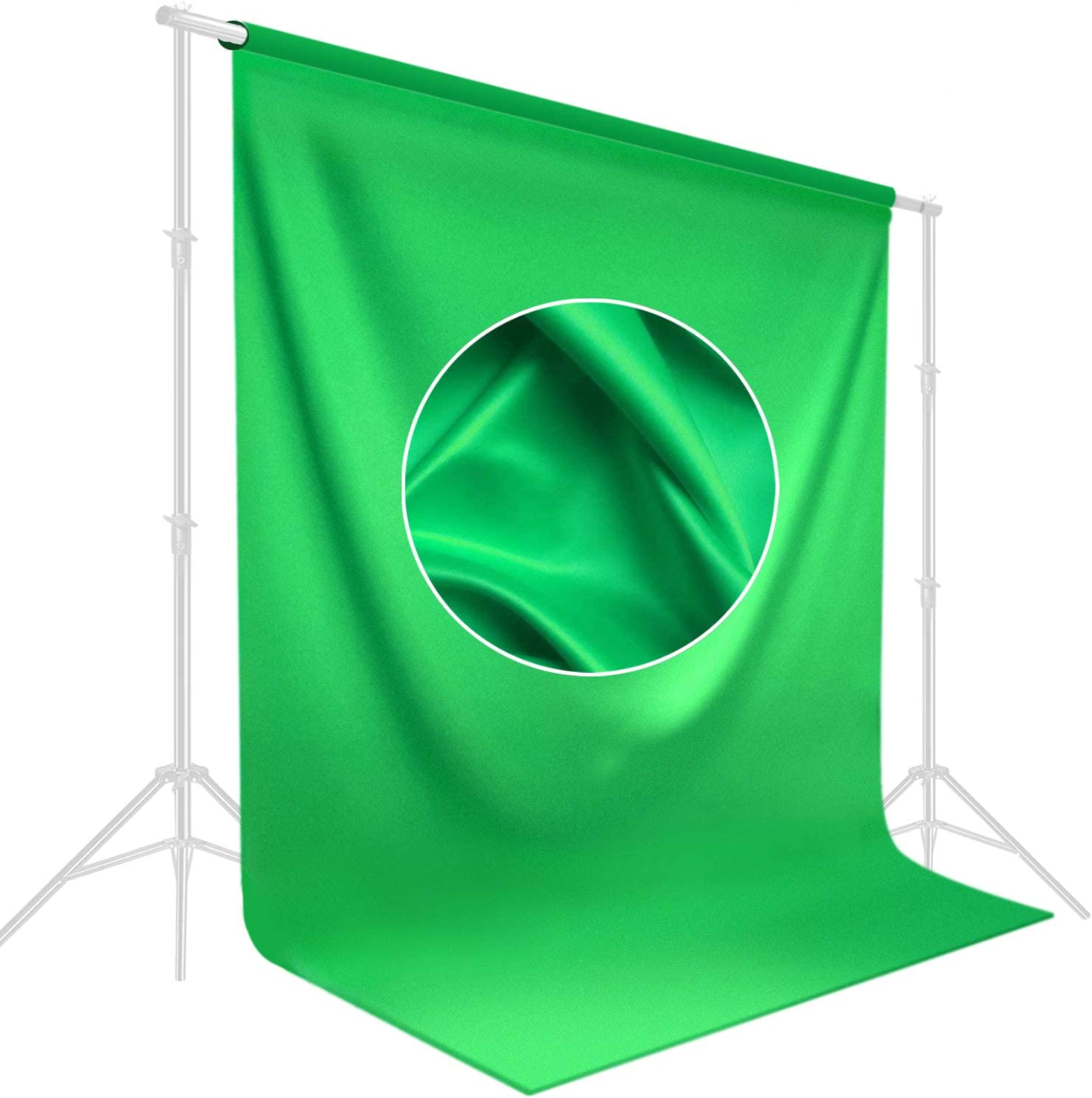 LimoStudio, AGG1846, Soft Backdrop Muslin, Background Screen for Chroma Key Photo Video Shooting, Streaming, Photography Studio (Green, 9 x 13 ft.)