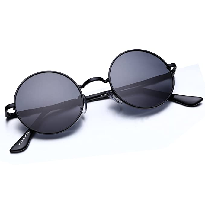 92015763f0 Image Unavailable. Image not available for. Color  Argus Le Lennon Retro  Round Sunglasses ...