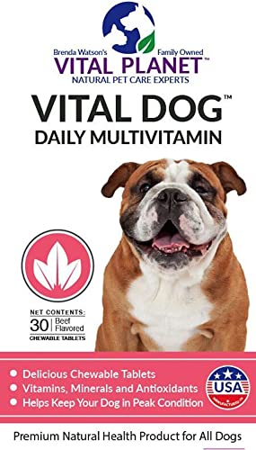 Vital Planet – Vital Dog – Daily Multivitamin – 30 Chewable Tablets