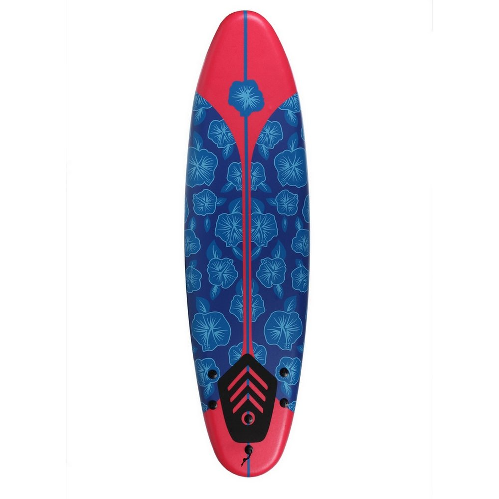 North Gear 6ft Surfing Thruster Beach Surfboard Foam (Blue/Red) by North Gear